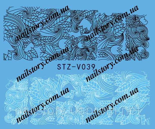 Водные наклейки для ногтей STZ039, фото 2