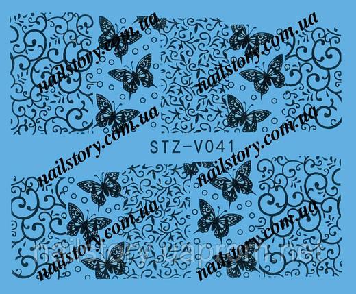 Водные наклейки для ногтей STZ041, фото 2
