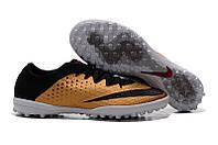 Бутсы многошиповки Nike Elastico Finale III TF Gold, фото 1