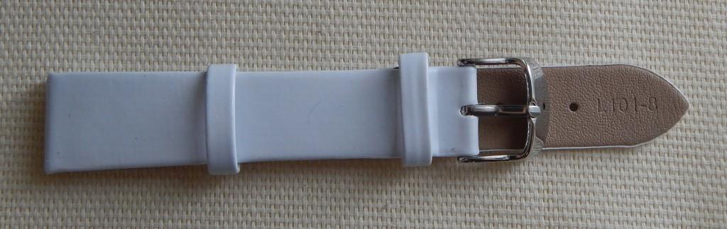 16 мм. Ремешок кожаный Verona (Италия) Белый лак