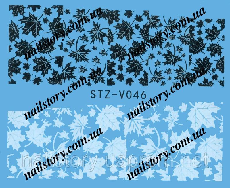 Водные наклейки для ногтей STZ046