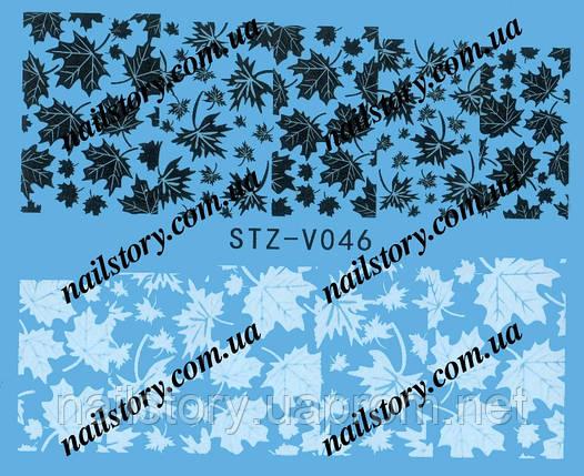 Водные наклейки для ногтей STZ046, фото 2