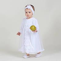 Крестильная рубашка-платье Нарядное (Бархатная) от Miminobaby от 12 до 18 месяцев