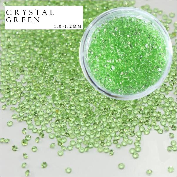 Хрустальная крошка, кристалл пикси, Crystal Pixie, 100 шт/уп ярко-зеленый