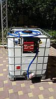 Мини заправка для дизельного топлива (Еврокуб + колонка)