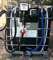 Мини заправка для дизельного топлива (колона + Еврокуб)
