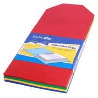 Роздільник аркушів 240*105мм Economix, пластик, кольоровий, 100 шт.E30810