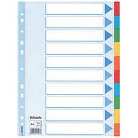 Разделители Esselte из цветного картона A4 10 листов 100193