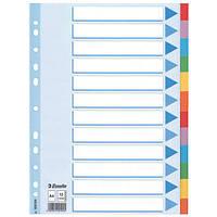 Разделители Esselte из цветного картона A4 12 листов 100194