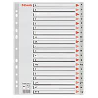 Разделители Esselte  A4 пластиковые из ПП алфавитные A-Z 100112