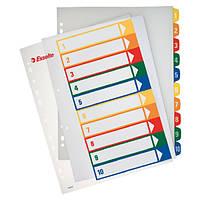 Разделители пластиковые с прозрачным титульным листом А4, 1-10, maxi100213