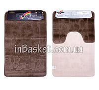 """Комплект ковриков для ванной """"Brown floret"""""""
