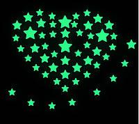 """Интерьерная виниловая наклейка детская на стену светящаяся """"Звезды"""""""