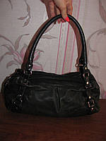Черная кожаная сумка 5TH Avenue