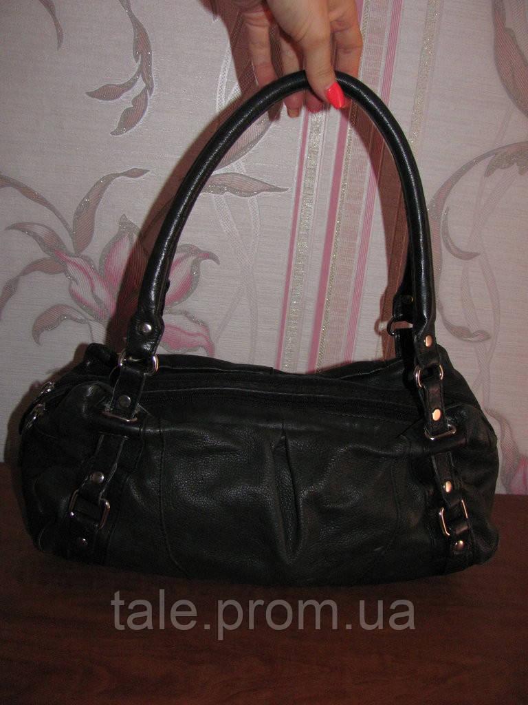 Черная кожаная сумка 5TH Avenue - Интернет-магазин