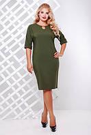 Элегантное женское платье  Оливия оливковый (52-58), фото 1