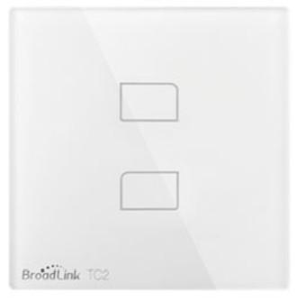 Умный сенсорный Wi-Fi выключатель BroadLink 2 кнопки
