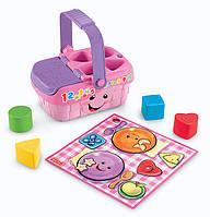 Музыкальная развивающая игрушка Корзинка-сортер Fisher Price