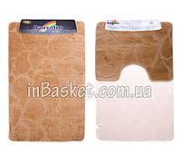 """Комплект ковриков для ванной """"Biege petal"""""""