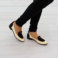 Туфли лоферы из лакированной кожи бежевого цвета