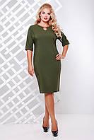 Платье Vlavi Оливия  (50-58)  оливковый, фото 1