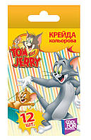 Мел цветной Tom and Jerry , 12шт.TJ02631