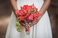 Свадебный букет из гладиолуса