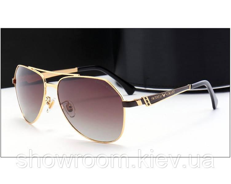 Солнцезащитные очки в стиле Armani (10009) brown lens