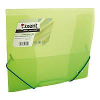 Папка на гумках В5, прозора, зелена 159791505-26-А