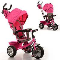 Детский трехколесный велосипед Turbo Trike M 3205A-2, розовый
