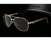 Солнцезащитные очки в стиле Armani (10009) gold, фото 1