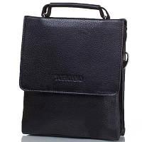 Мужская кожаная сумка-барсетка черная высокого качества Tofionno TF00W016-31