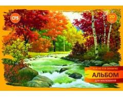 Альбом для малювання на пружині, 20 аркушів,  Seasons CF60903-04