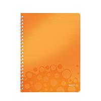 Тетрадь A4 ПП WOW, клетка, оранжевый металлик46380044