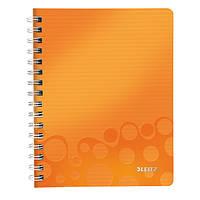 Тетрадь A5 ПП WOW, клетка, оранжевый металлик 46410044
