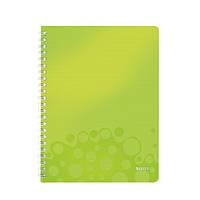 Тетрадь A4 ПП WOW, клетка зеленый металлик46380064