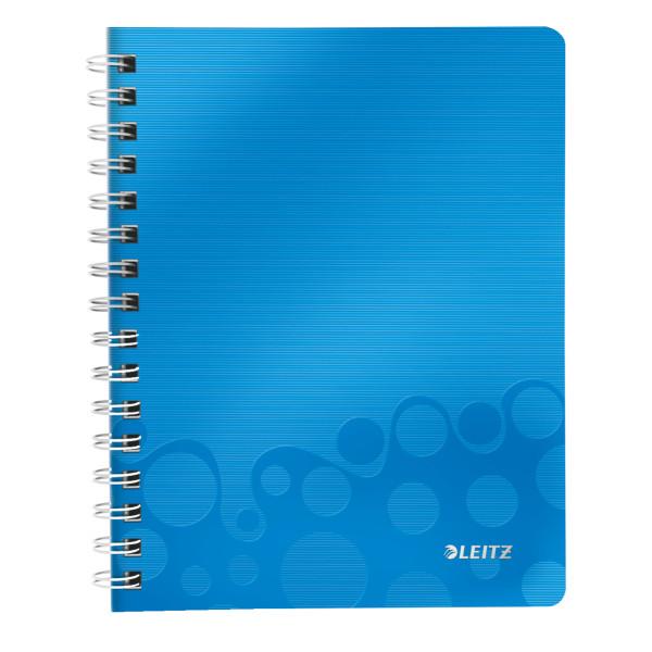 Зошит A5 ПП WOW, клітина, блакитний металлик46410036