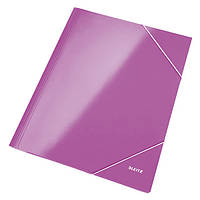 Папка на резинке A4 WOW, черничный металлик39820062