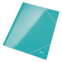 Папка картонная на резинке A4 WOW, бирюзовый металлик 39820051