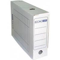 Короб архівний картонний 100 мм Economix, білийE32704-14