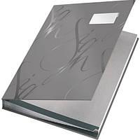 Папка  На подпись , Leitz, серая, покрытие  soft skin 57450085