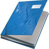 Папка  На подпись , Leitz, синяя, покрытие  soft skin 57450035