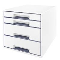 Шкафчик Leitz WOW 4 ящика бело-серый 52131001