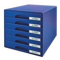 Шкафчик Leitz Plus, 6 ящиков. Цвет - Синий52120035