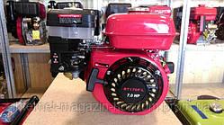 Бензиновый двигатель Weima BT170F-S2Р(шпонка, вал 20 мм,шкив на 2 ручья 76 мм) 7.0 л.с.