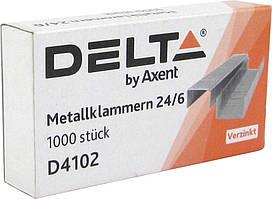 Скобы Axent Delta 24/6, 1000 шт 23551D4102