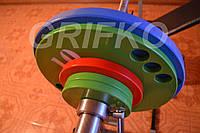 Штанга олимпийская 81 кг (Гриф 220 см) хром/цинк