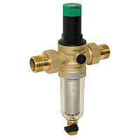 Самопромывной фильтр с манометром и редуктором давления 1/2 HONEYWELL(холодный), фото 1