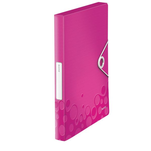 Папка-бокс ПП WOW, розовый металлик46290023