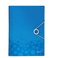 Папка с отделениями ПП WOW, голубой металлик45890036